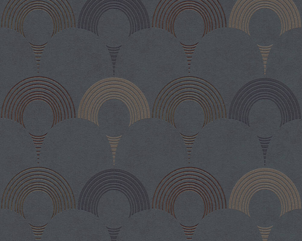 A.S. Création Wallpaper Graphics, Beige, Black, Gold, Grey 374802