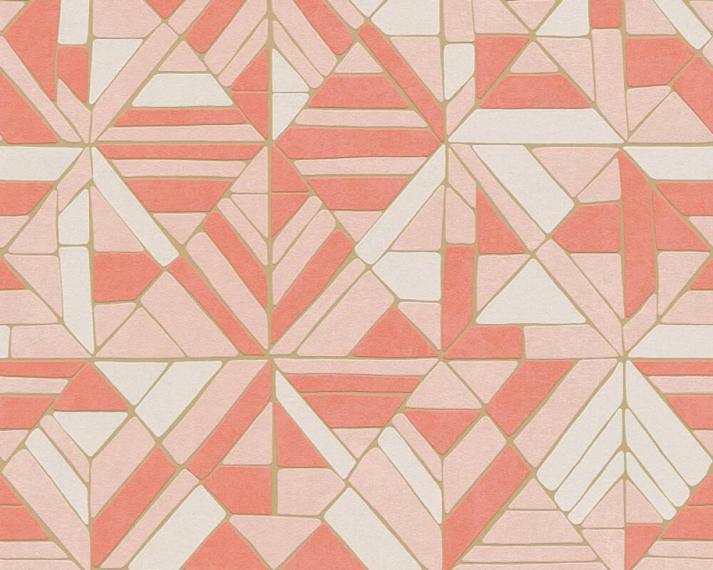A.S. Création Tapete Grafik, Gold, Orange, Rosa, Rot 374811