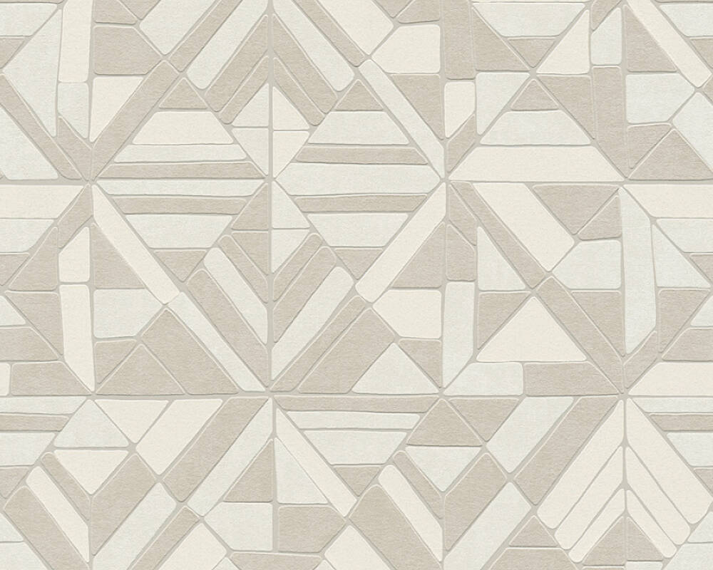 A.S. Création Wallpaper Graphics, Beige, Cream, Grey, Silver 374812