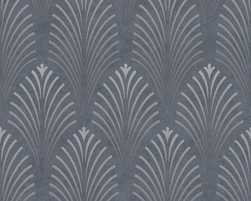 A.S. Création Tapete Grafik, Grau, Metallics, Schwarz, Silber 374822