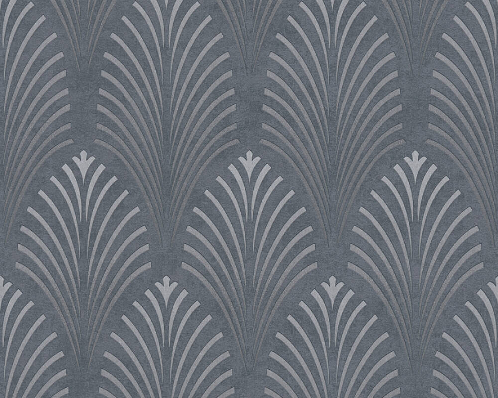 A.S. Création Wallpaper Graphics, Black, Grey, Metallic, Silver 374822