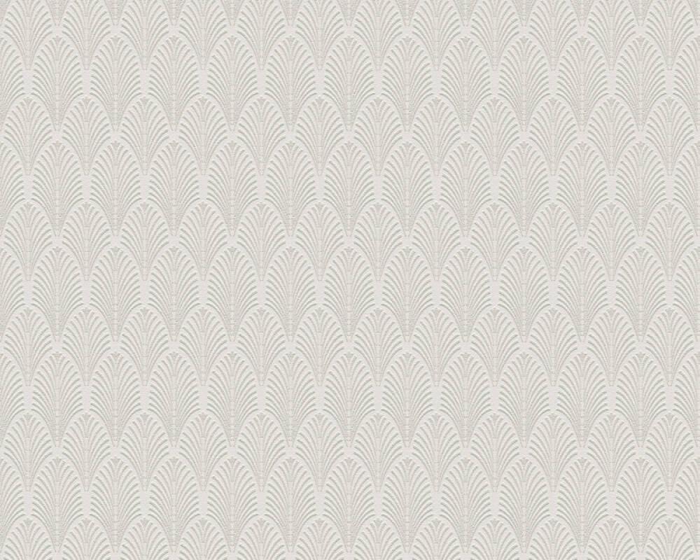 A.S. Création Tapete Grafik, Metallics, Silber, Weiß 374841