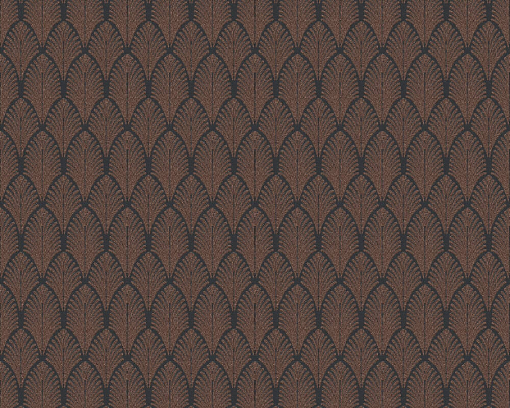 A.S. Création Wallpaper Graphics, Black, Copper, Metallic 374842