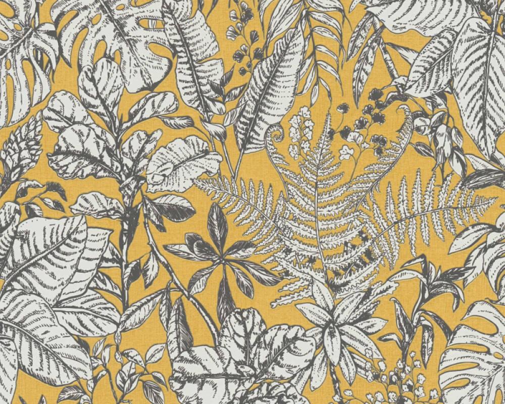 Daniel Hechter Tapete Landhaus, Floral, Gelb, Grau, Weiß 375203