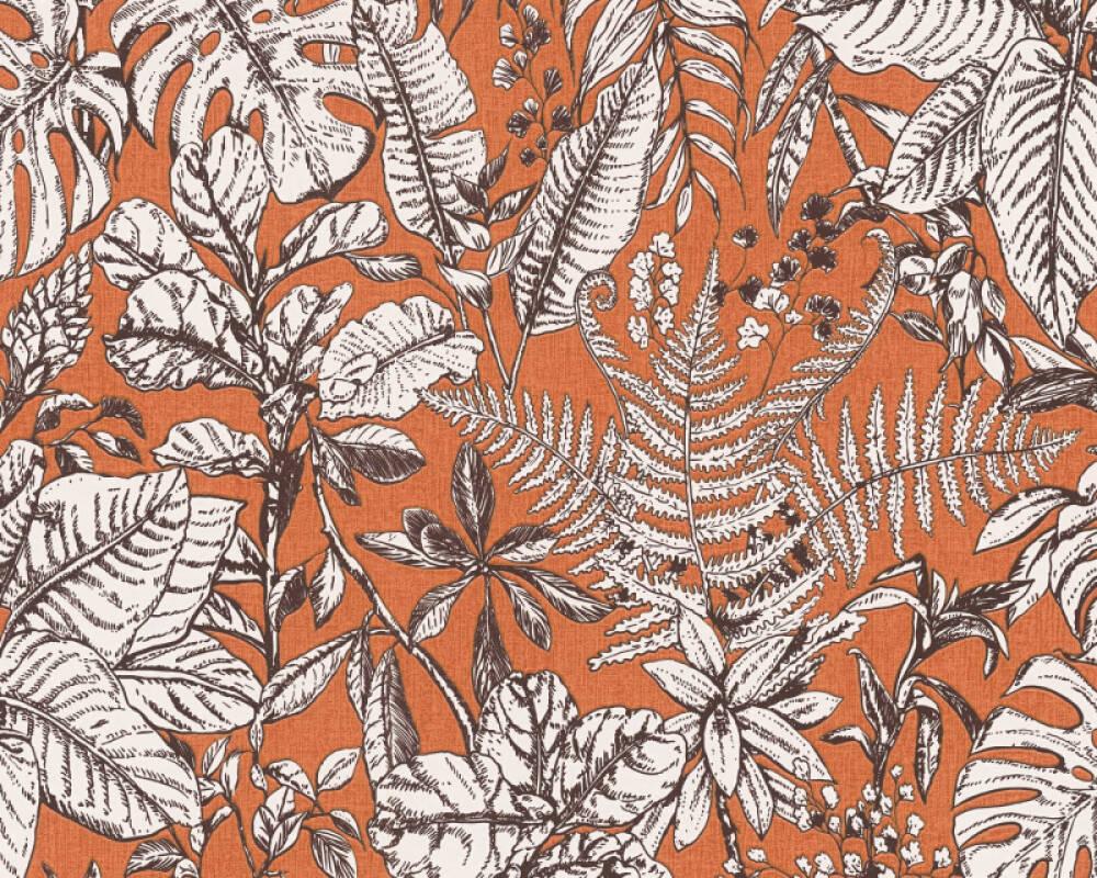 Daniel Hechter Tapete Landhaus, Floral, Orange, Weiß 375204