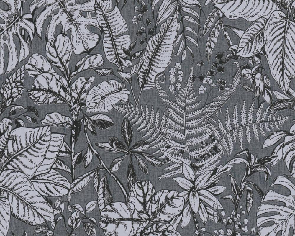 Daniel Hechter Tapete Landhaus, Floral, Grau, Schwarz 375205