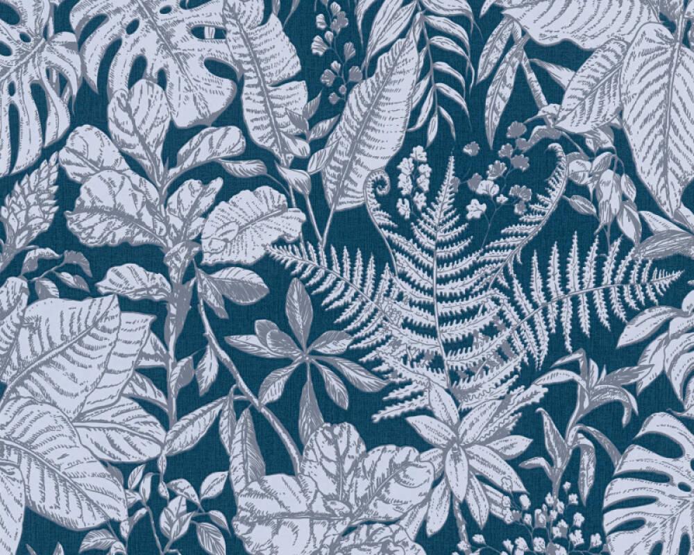 Daniel Hechter Tapete Landhaus, Floral, Blau, Grau 375206