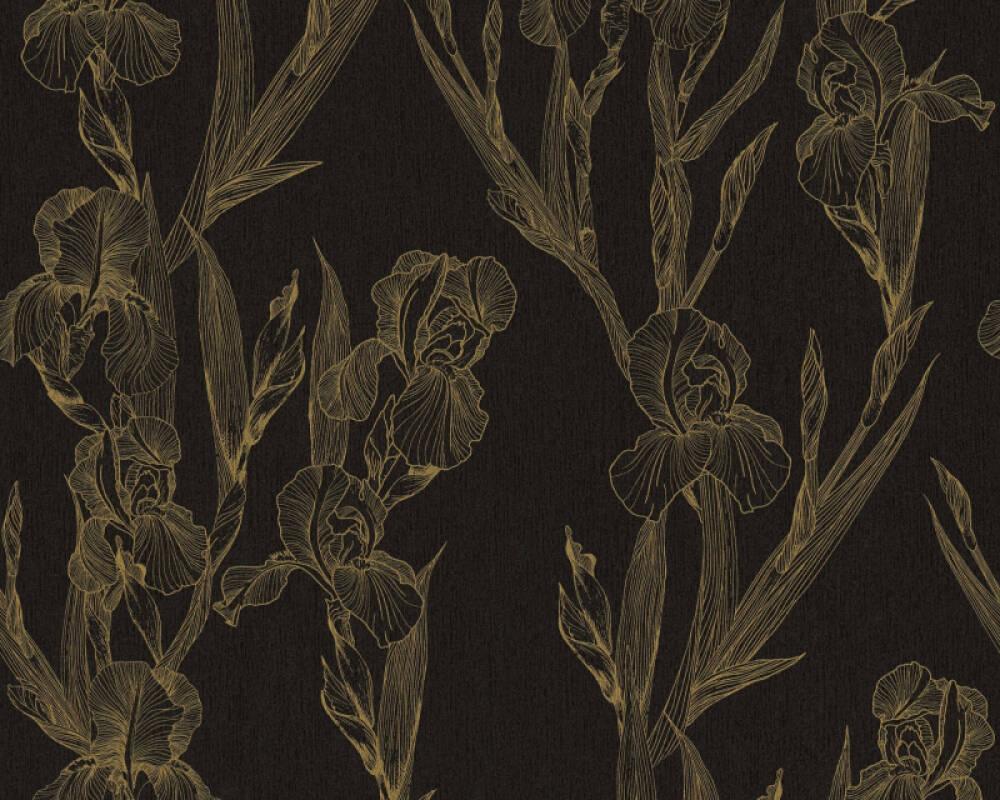 Daniel Hechter Tapete Landhaus, Floral, Gelb, Schwarz 375263