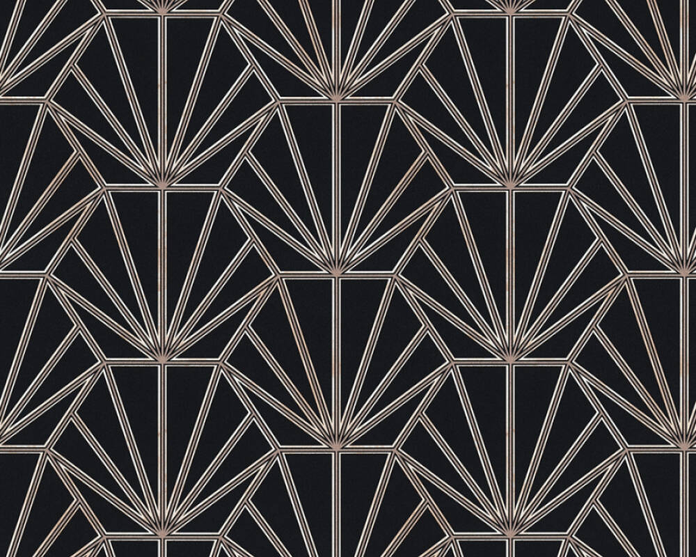 Daniel Hechter Tapete Grafik, Kupfer, Metallics, Schwarz 375281