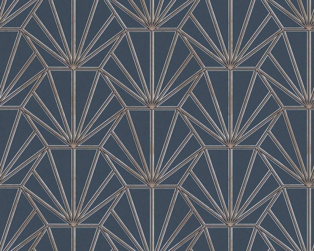 Daniel Hechter Tapete Grafik, Beige, Blau, Gold, Metallics 375283