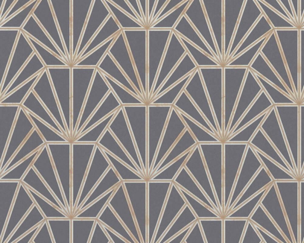 Daniel Hechter Tapete Grafik, Creme, Gold, Grau, Metallics 375284