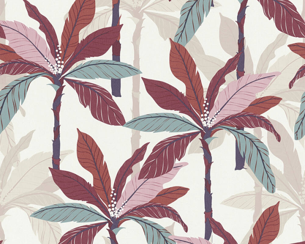 Private Walls Tapete Floral, Beige, Creme, Rot 375304