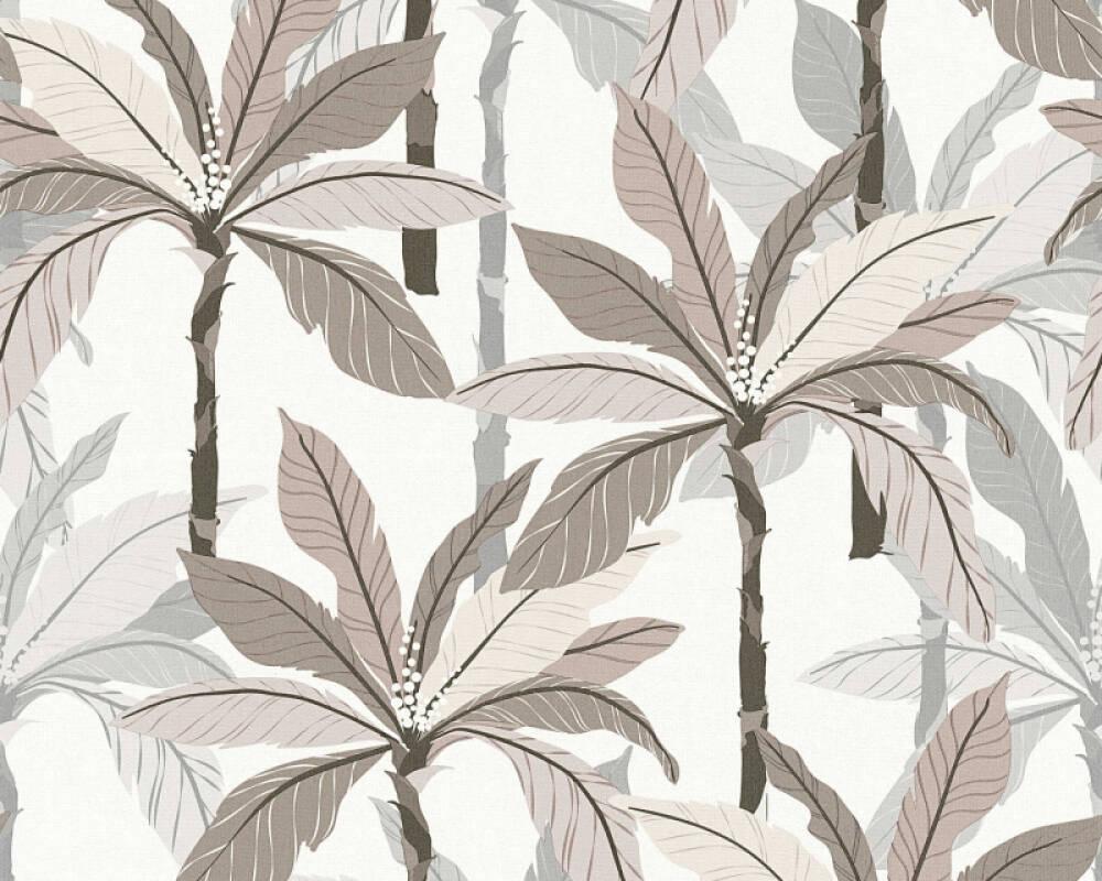 Private Walls Tapete Floral, Beige, Grau, Weiß 375305