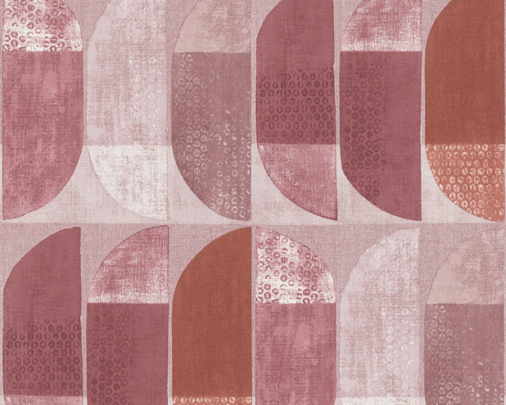 Private Walls Wallpaper Graphics, Beige, Pink, Red 375316
