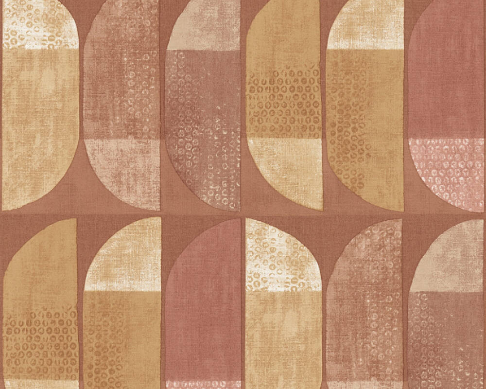 Private Walls Wallpaper Graphics, Brown, Cream, Orange, Yellow 375317