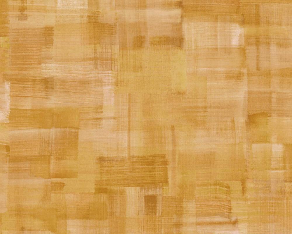 Private Walls Wallpaper Uni, Orange, Yellow 375326