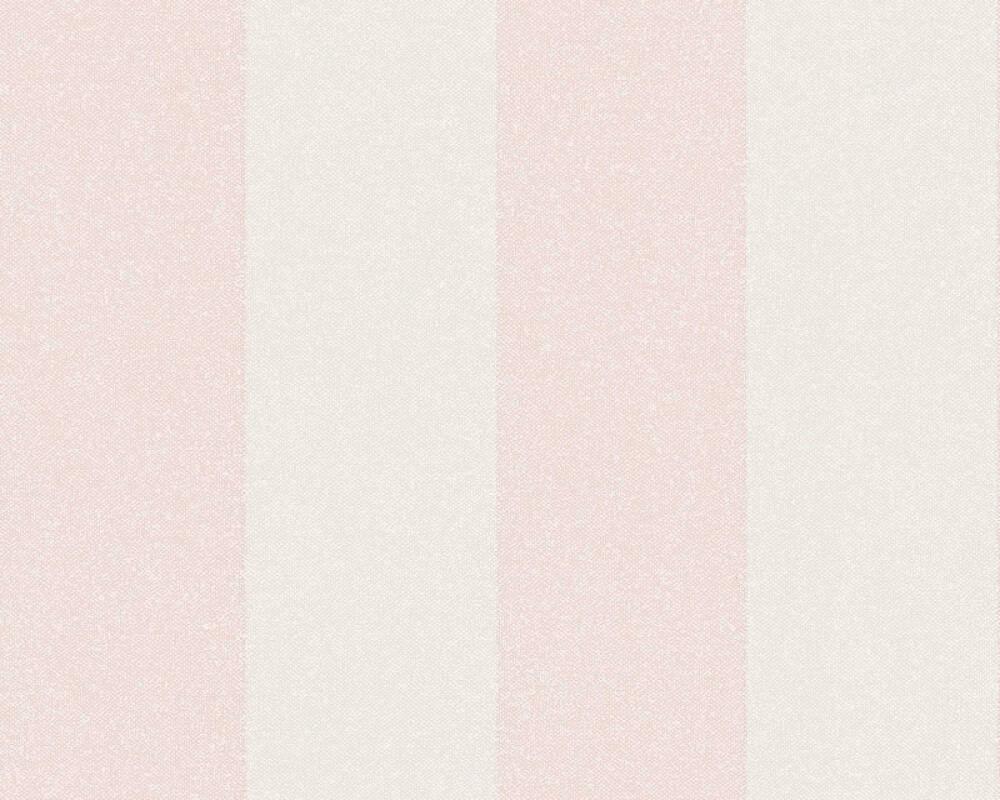 A.S. Création Tapete Streifen, Floral, Creme, Rosa 375542