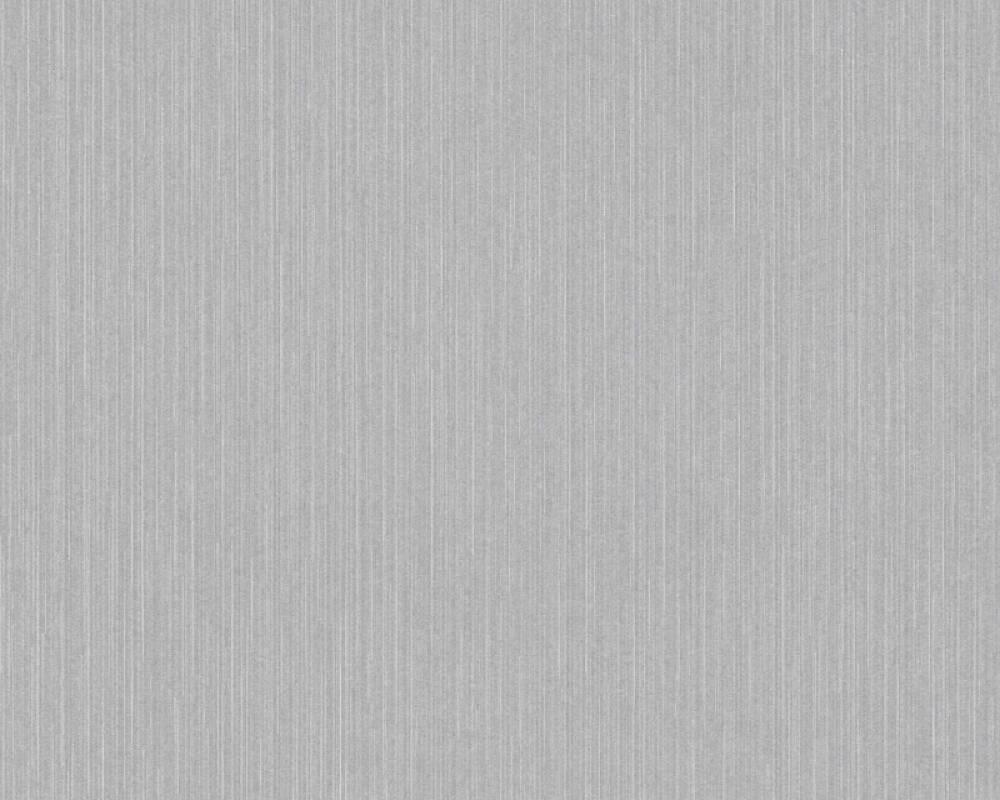Architects Paper Tapete Uni, Grau, Metallics, Silber, Weiß 375593