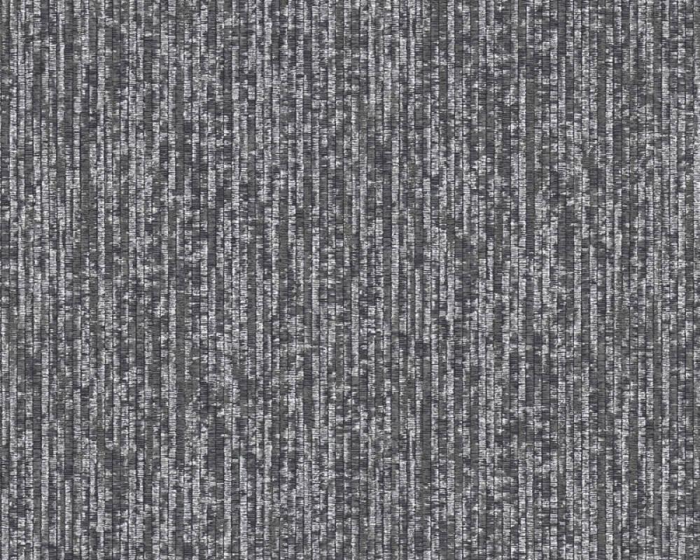 Architects Paper Tapete Uni, Grau, Metallics, Schwarz, Silber 375607