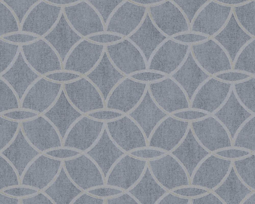 Architects Paper Tapete Grafik, Blau, Grau, Metallics, Silber 375644