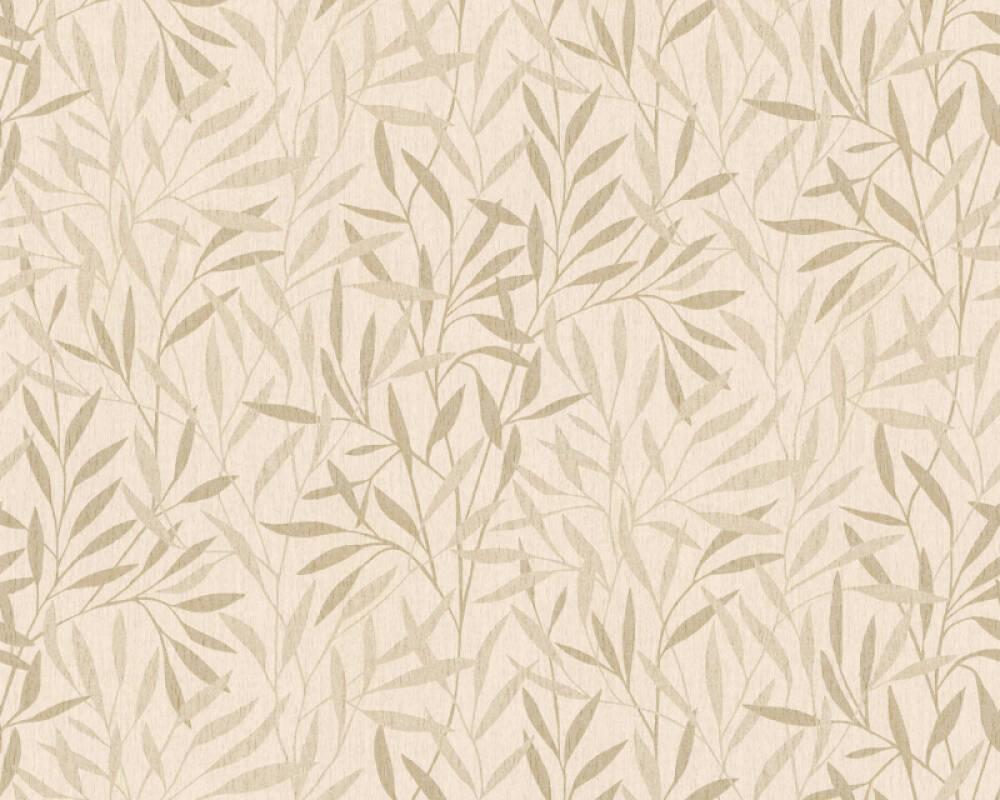 A.S. Création Wallpaper Floral, Beige, Cream, Metallic 376311