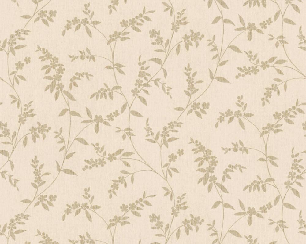 A.S. Création Tapete Floral, Beige, Creme, Metallics 376321