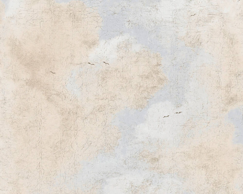 A.S. Création Tapete Landhaus, Beige, Blau, Weiß 376492
