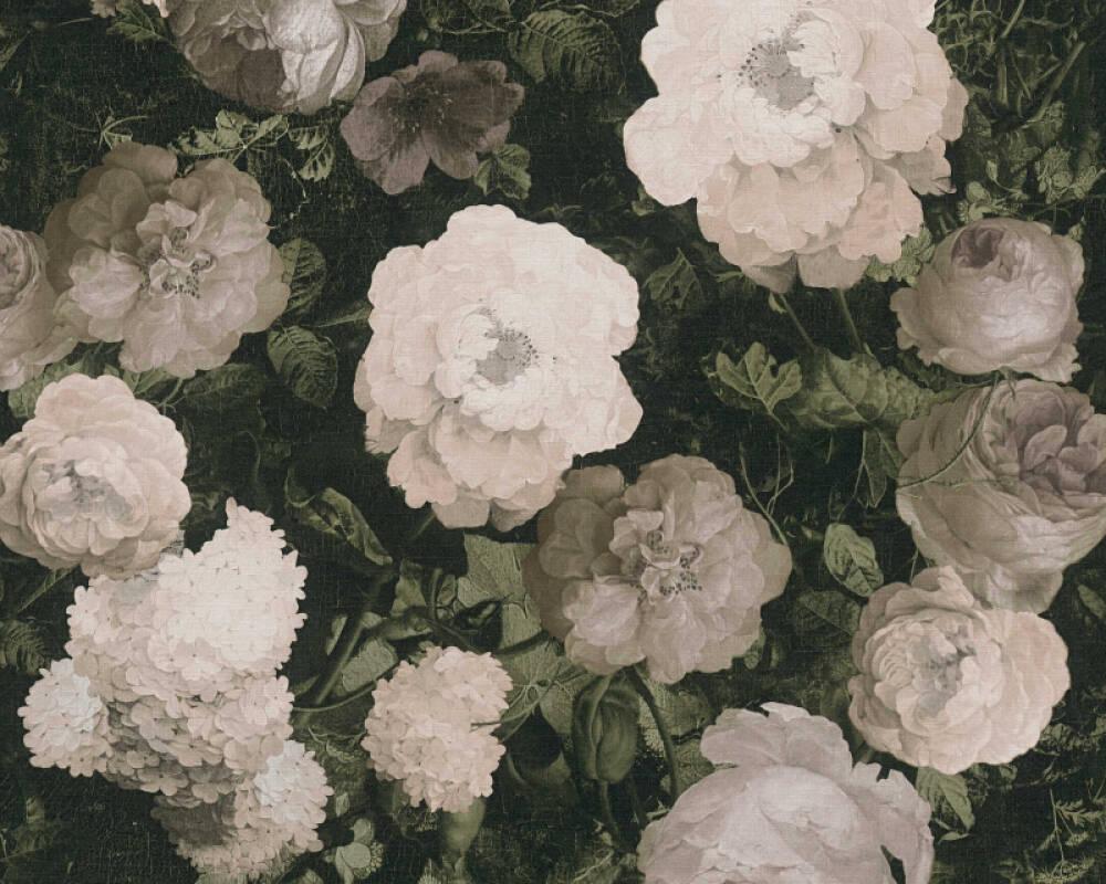 A.S. Création Tapete Floral, Creme, Grau, Grün 376503