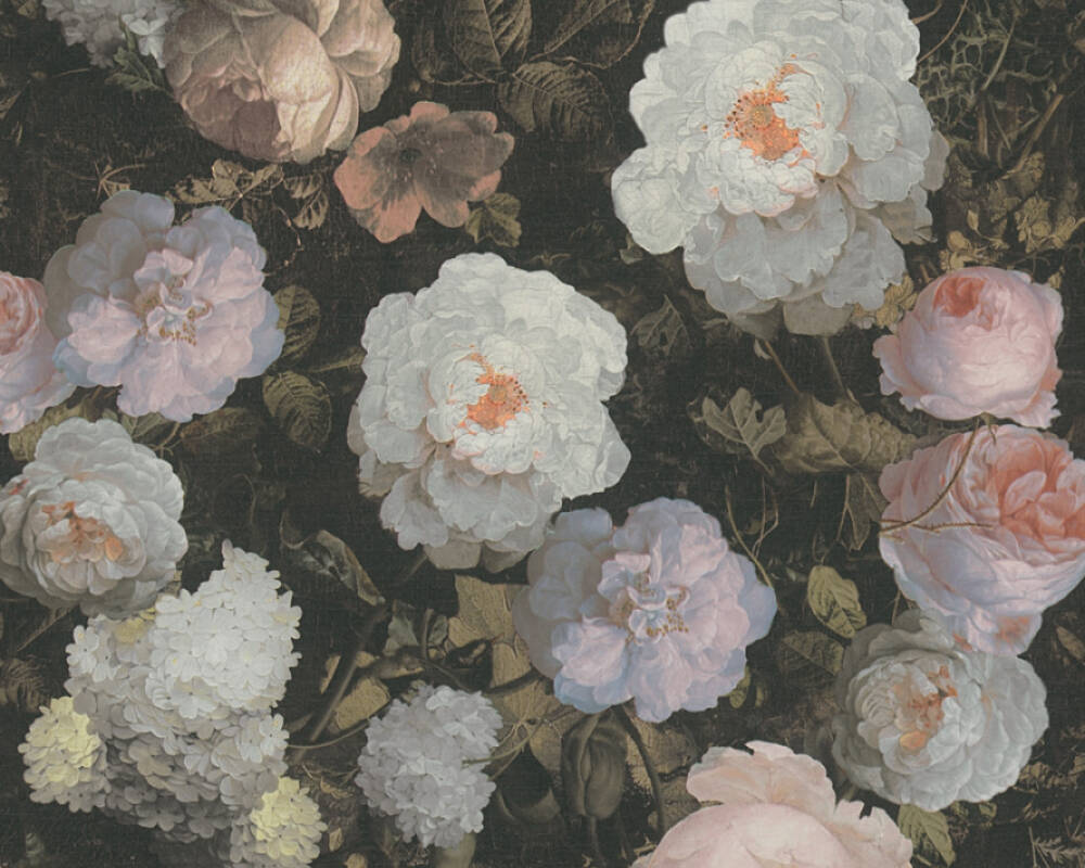 A.S. Création Tapete Floral, Rosa, Schwarz, Weiß 376505