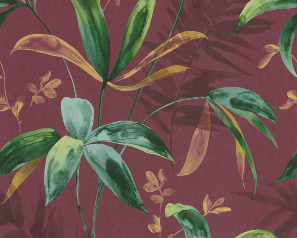 Architects Paper Tapete Floral, Beige, Grün, Rot 377043