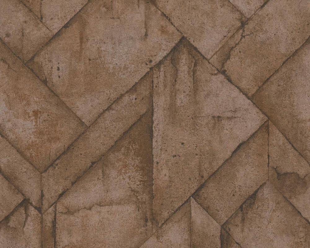 Livingwalls Tapete Grafik, Braun, Metallics, Orange 377411