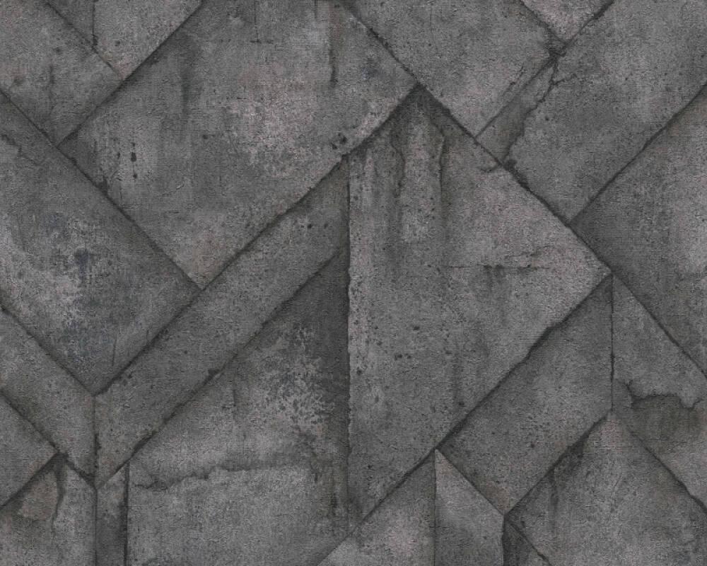 Livingwalls Tapete Grafik, Grau, Metallics, Schwarz 377412