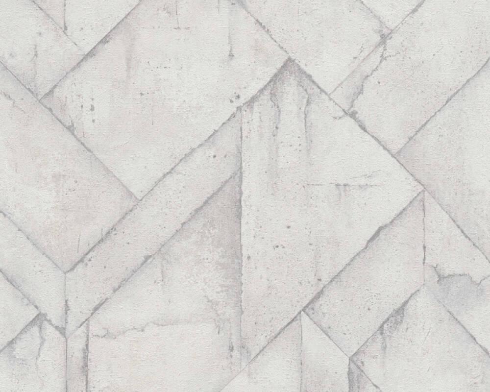 Livingwalls Tapete Grafik, Grau, Weiß 377415