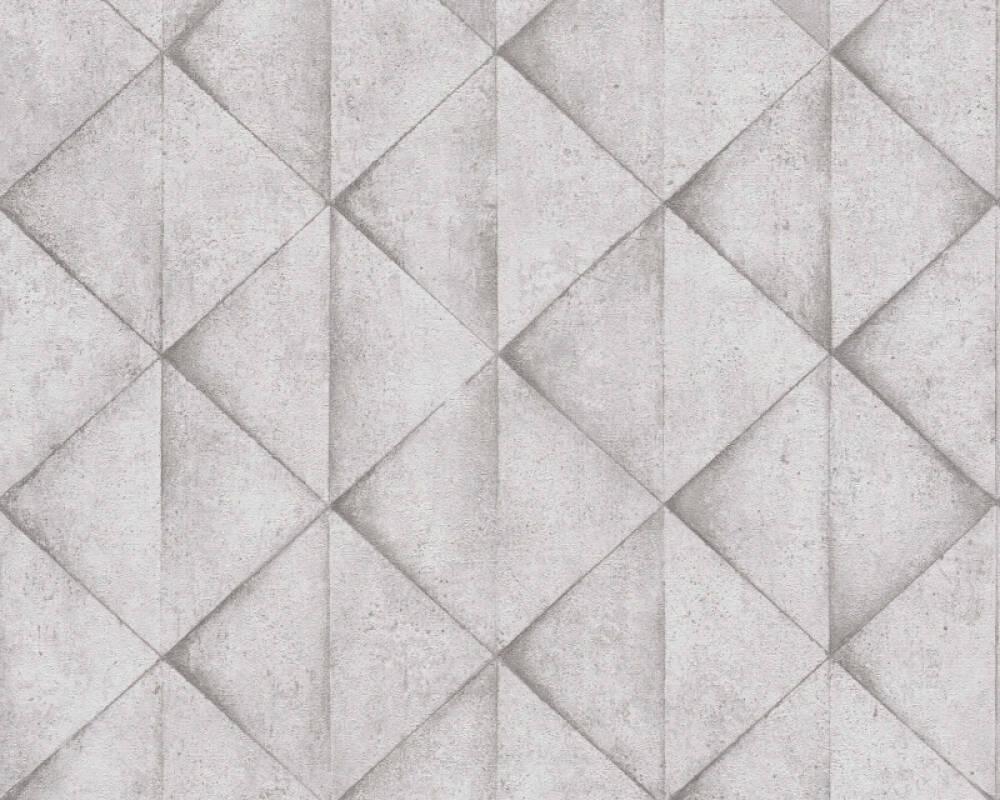 Livingwalls Tapete Grafik, Grau, Weiß 377422