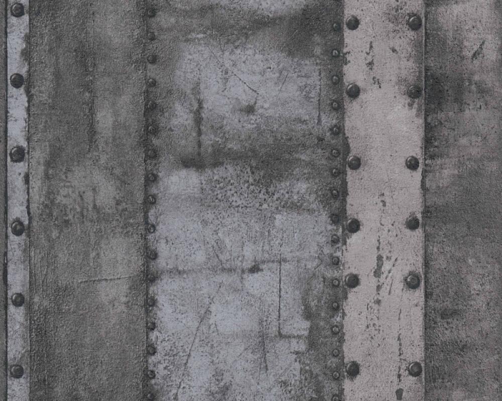 Livingwalls Tapete Streifen, Grau, Metallics, Schwarz 377434