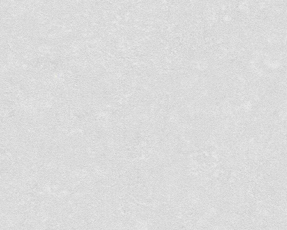 Livingwalls Tapete Uni, Grau, Weiß 377448
