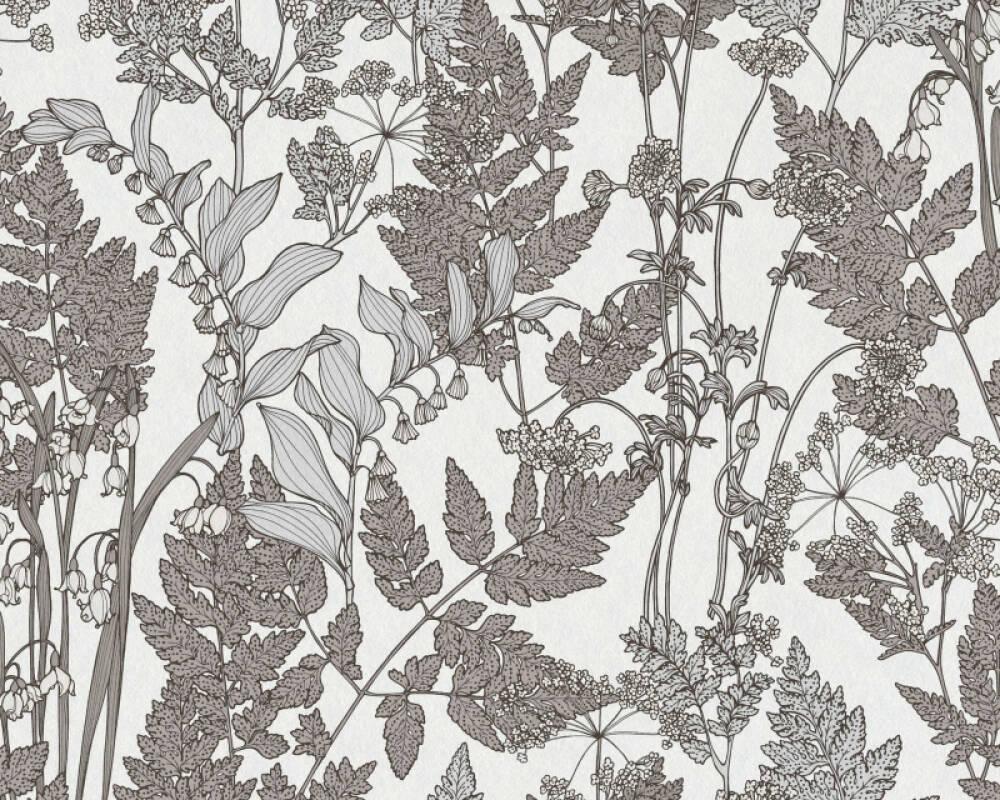 Architects Paper Tapete Floral, Braun, Grau, Weiß 377521