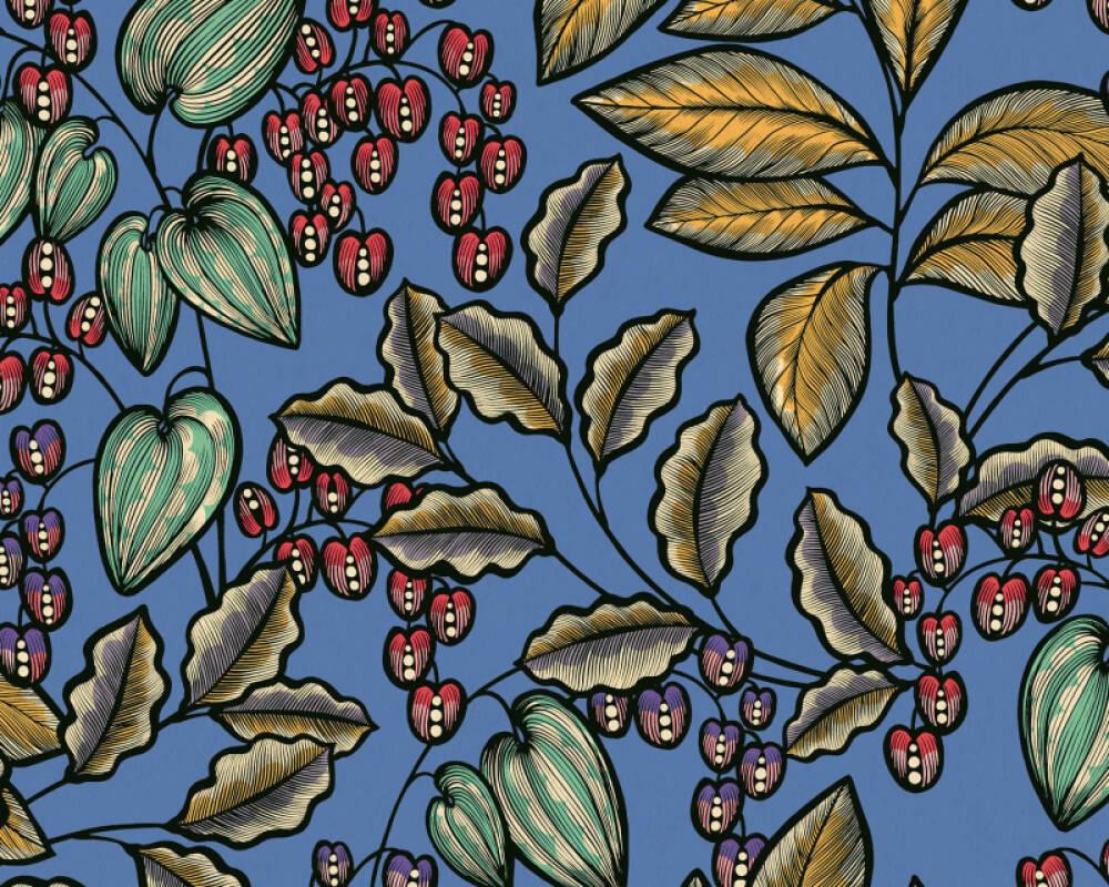 Architects Paper Tapete Floral, Blau, Bunt 377541