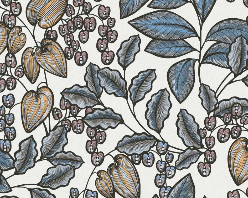 Architects Paper Tapete Floral, Blau, Bunt, Creme 377548