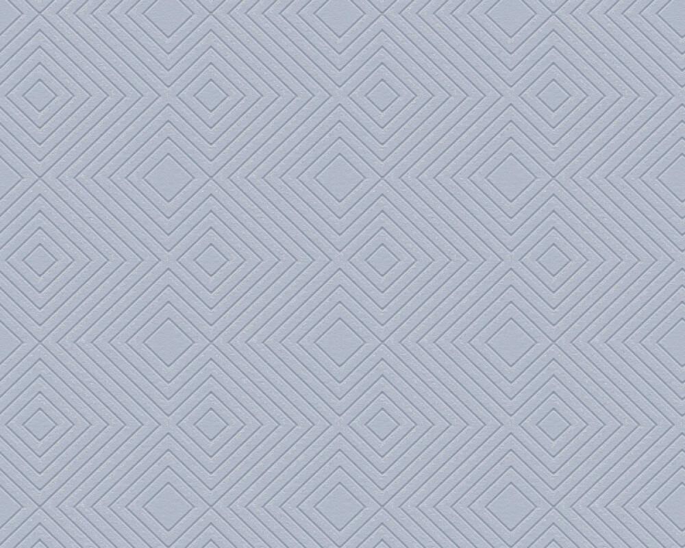 A.S. Création Wallpaper Graphics, Blue, Metallic 377586