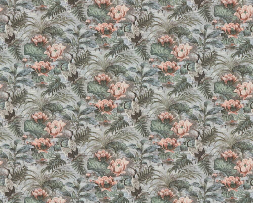 A.S. Création Tapete Floral, Blau, Bunt, Grün 377822