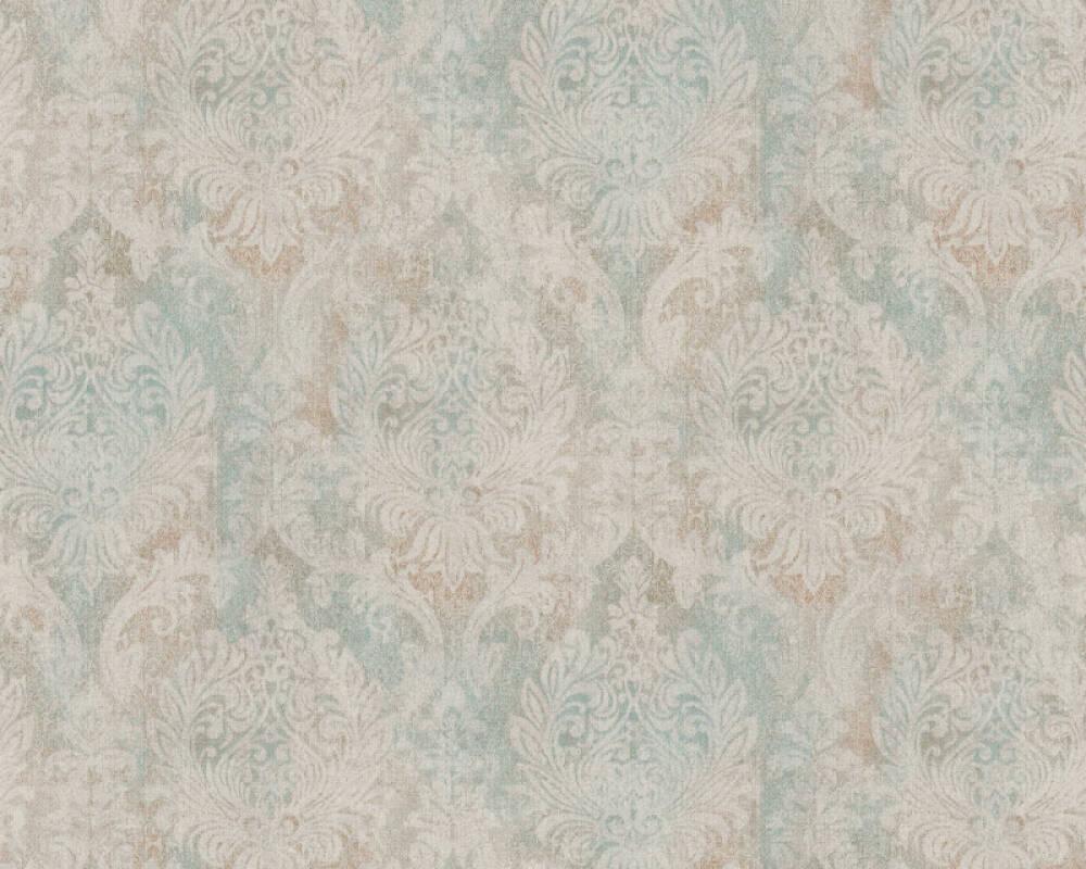 A.S. Création Tapete Barock, Blau, Grün, Metallics 377854