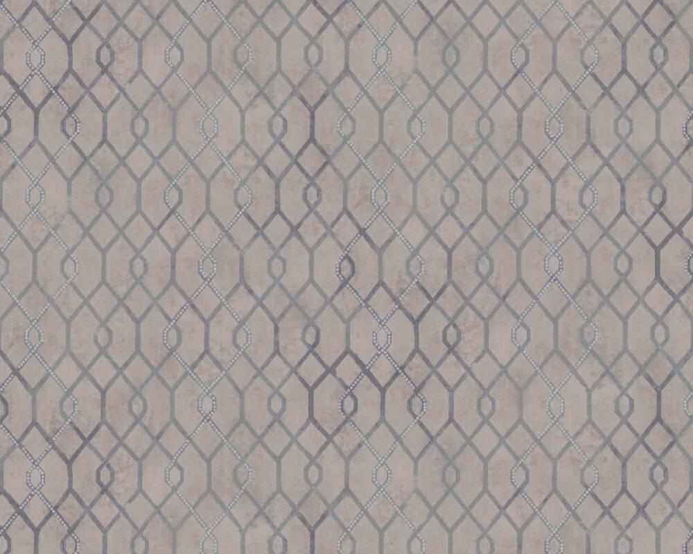 A.S. Création Tapete Grafik, Braun, Grau, Metallics 377872