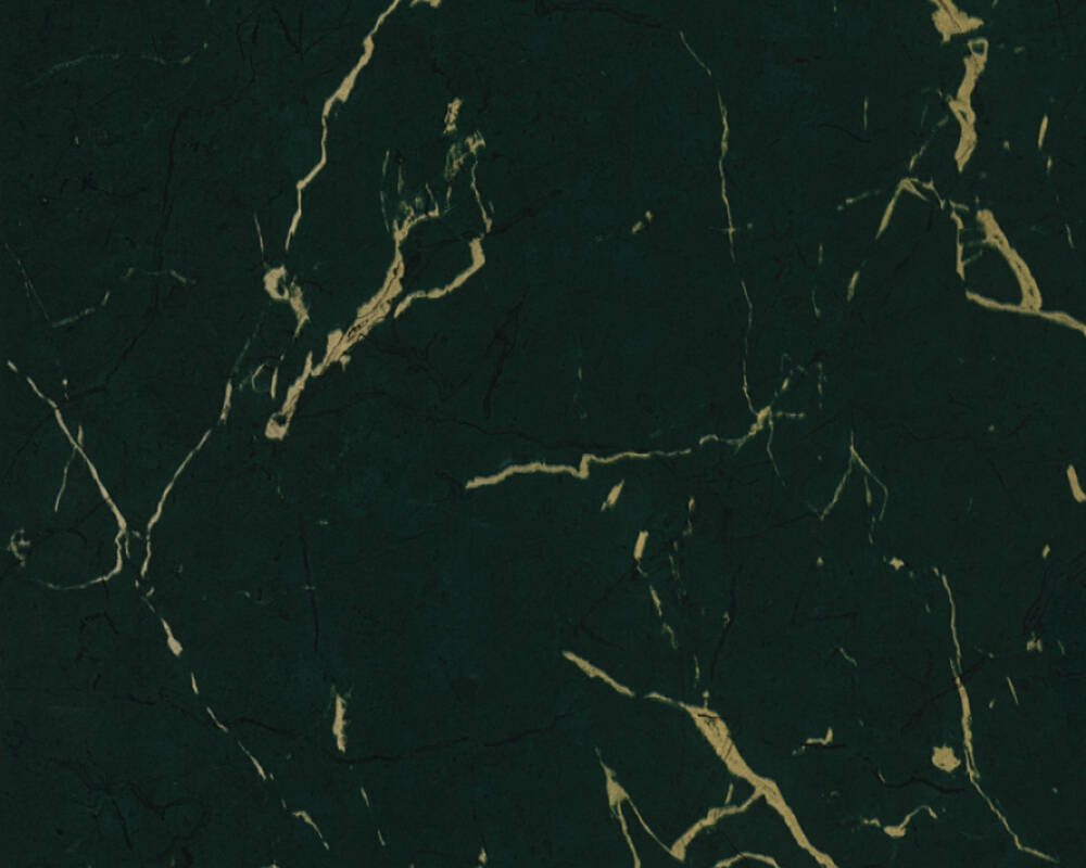 Livingwalls Wallpaper Uni, Green, Metallic 378555