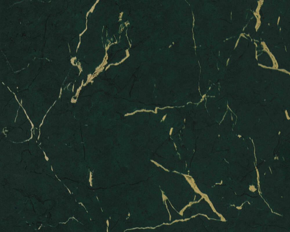 Livingwalls papier peint Uni, métallique, vert 378555