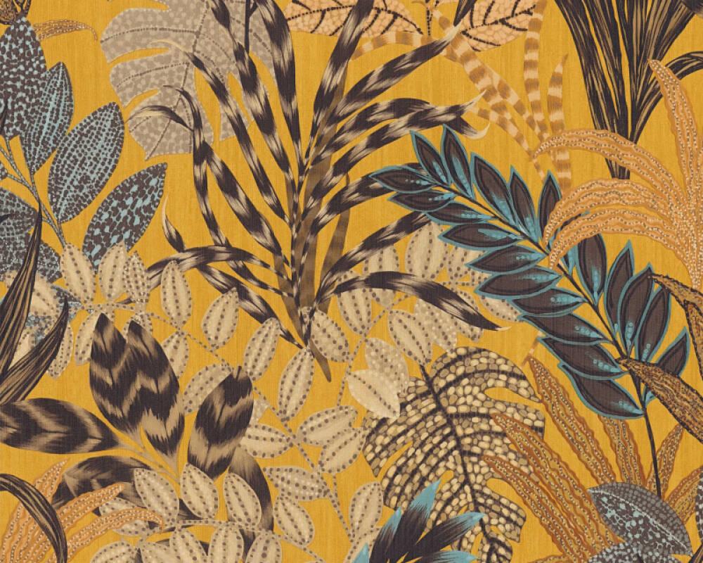 Livingwalls papier peint Floral, jaune, marron, multicolore 378601