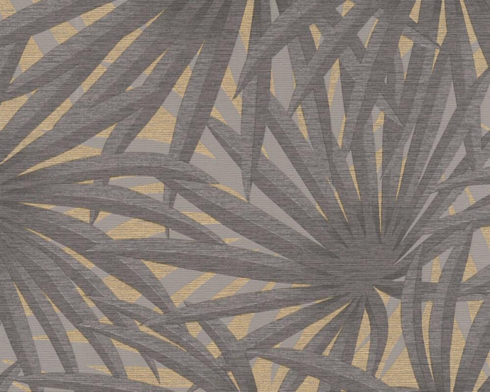 Livingwalls papier peint Floral, gris, métallique 378611