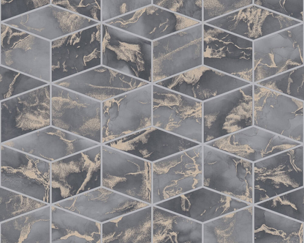Livingwalls papier peint Graphique, beige, gris, métallique 378633