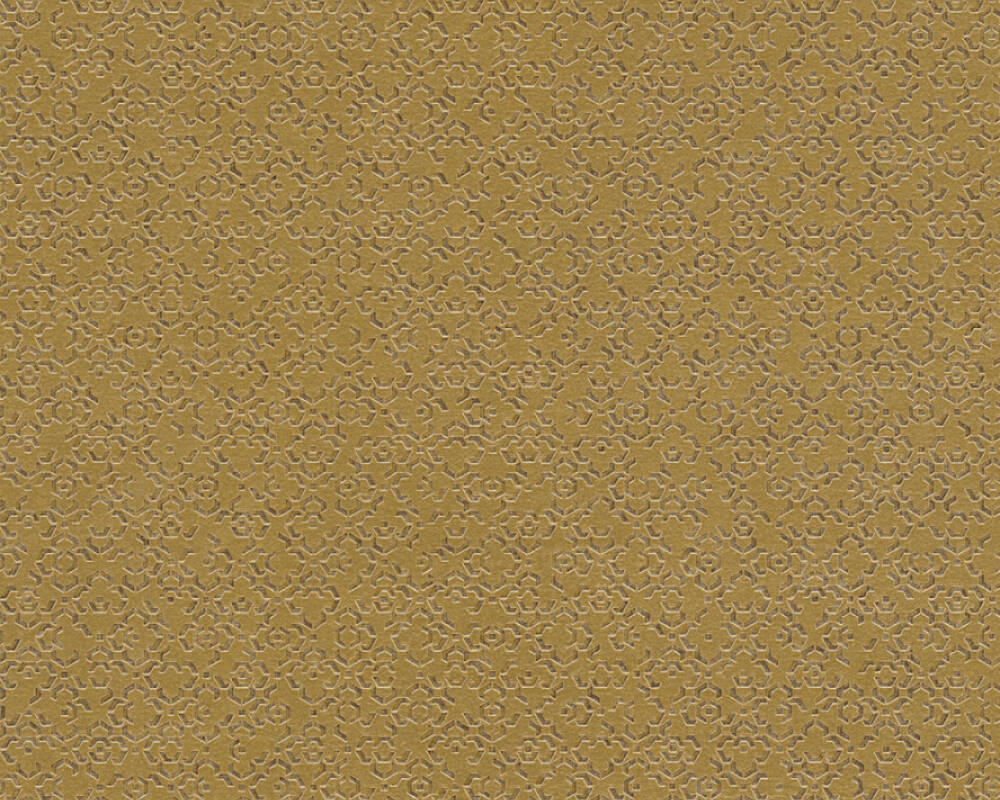 Livingwalls Wallpaper Graphics, Brown, Metallic, Yellow 378661