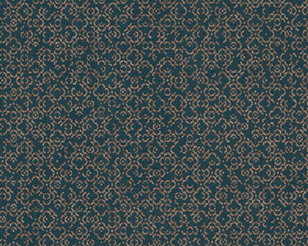 Livingwalls papier peint Graphique, bleu, gris, métallique 378664